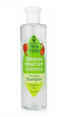 Escenti Tea Tree Children's Kids Head Lice Defence Detangling Shampoo 300ML