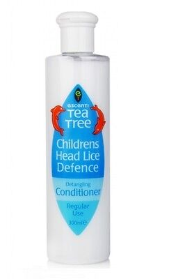 Escenti Tea Tree Children's Kids Head Lice Defence Detangling Conditioner 300ML