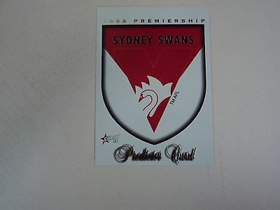 1998 Select Afl Sydney Swans Premiership Predictor Card #pc14