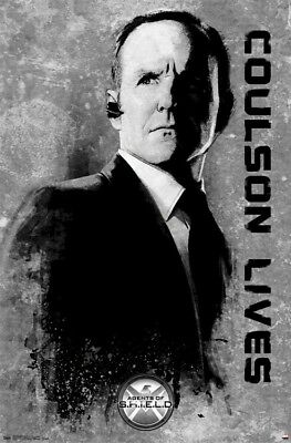 AGENTS OF SHIELD ~ COULSON LIVES ~ 22x34 Marvel Poster Clark Gregg S.H.I.E.L.D.