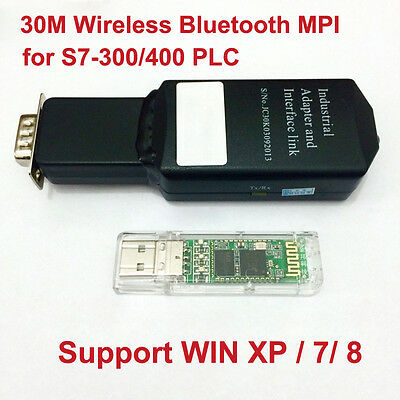 30m Wireless Bluetooth MPI Programming Cable for Siemens S7-300/400 PLC WIN7/8