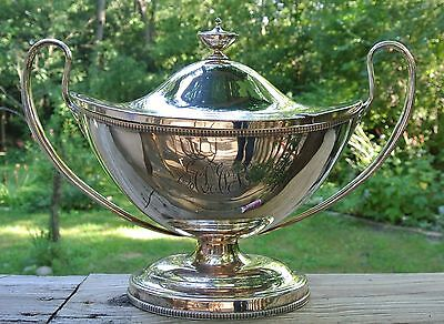 Vtg Silver Plated Victorian Adam Style Soup Tureen I.F.S. LTD. Made in England