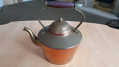 Antique Victorian Copper And Brass Spout Kettle
