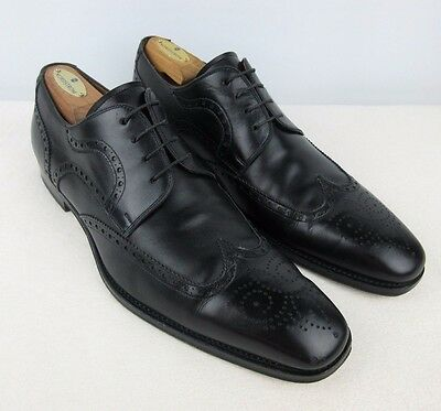 MAGNANNI Black Wingtip Brogue Shortwing Oxford Dress Shoes 10.5 10 1/2 D
