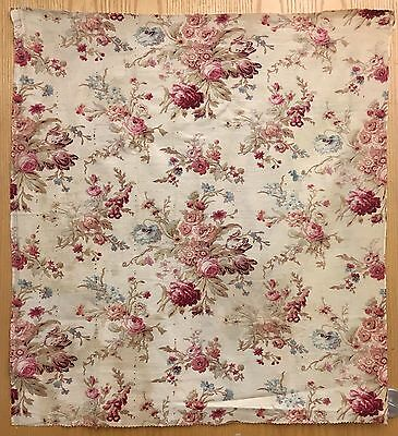 Beautiful 19th C. French Floral Printed Cotton Fabric (2100)