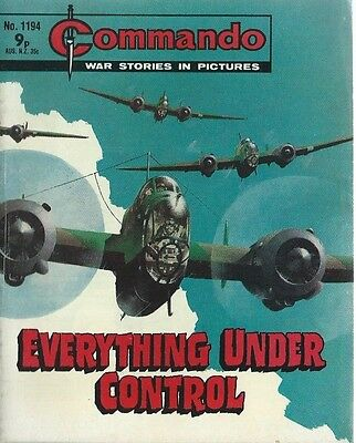 Everything Under Control,commando War Stories In Pictures,no.1194,war Comic,1978