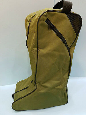 2 x Wellington Bags Storage Green fishing Hunting shooting walking Boots Riding