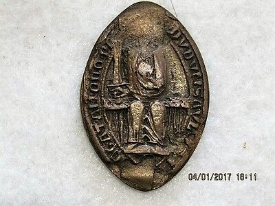 Medieval Lead Ecclesiastical Seal - Partially Damaged
