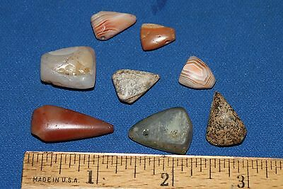 (8) Neolithic Triangle Pendants