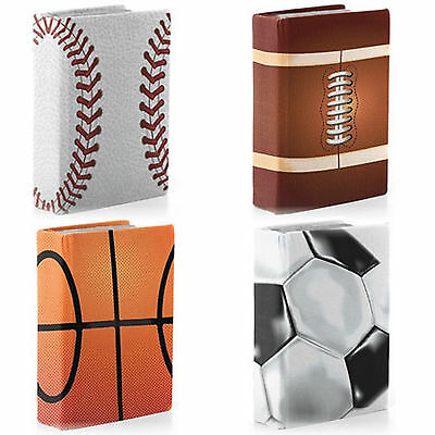 4 Jumbo Stretchable Sports Book Sox Covers Football Soccer Baseball Basketball