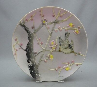 VINTAGE Shafford Japan Hand Painted Decorated Embossed Relief Bird Plate