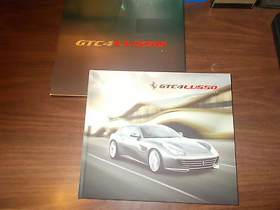 2016 Ferrari GTC4 Lusso Hard-Cover 86-page Sales Catalog with Slipcase / Nice!!
