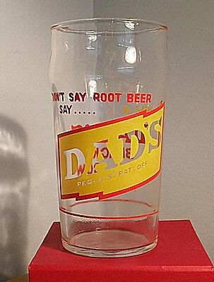 """Dad's Root Beer Glass -- 10 oz. -- """"Make a Dad's Black Cow... It's Delicious!"""""""