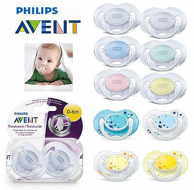 Baby Soother Dummy Nipple Philips Avent Translucent 0-6m / 6-18m 2x Pacifier