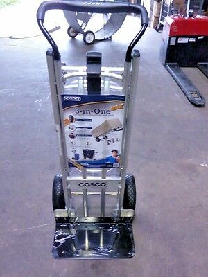 NEW Cosco 3-in-1 Hand Truck Cart Convertible Aluminum Steel 1000 lb Dolly