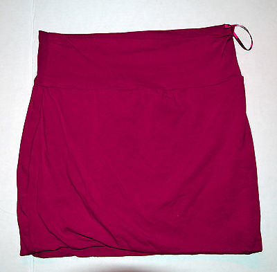 Ambiance Apparel  Women's Red Fold-Over Mini Skirt Size M (6-8)