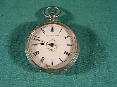 Antique Silver Ladies Pocket Watch .935 Silver Case The Princess Swiss Movement