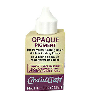 Dye Colorant Tint Resin Epoxy 30ml Opaque & Transparent Color by Castin Craft