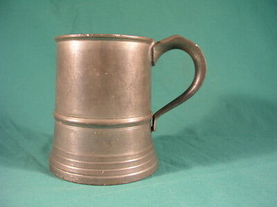 Antique Pint Pewter Tankard with Touch Marks on Base Circa 1920's