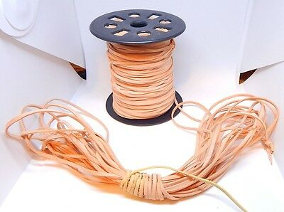 100 yards Genuine Rawhide Flat Leather Cord 3mm x 1mm thick Trim/Sewing/Crafts