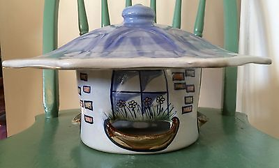 Rare Louisville Stoneware Pottery Bird Feeder (high fired) Outside No Fading