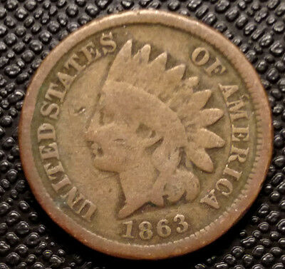 1863 Indian Cent   VG  condition coin