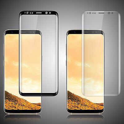 For Samsung Galaxy S8 HD Tempered Glass FULL COVERAGE Curved Screen Protector