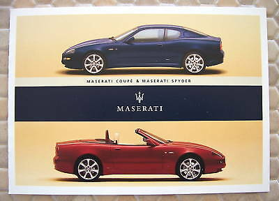 Maserati Official Spyder And Coupe Sales Brochure 2003 Usa Edition