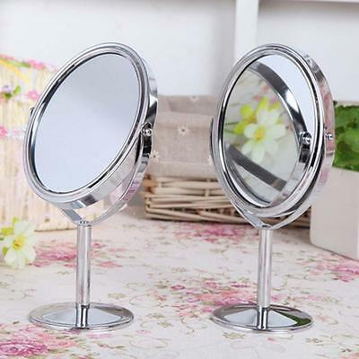 Mirror Magnification Tabletop Vanity Table Round Mirror Two-Sided Makeup SUSU