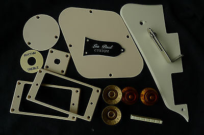 Epiphone L.P Pickguard Back Cover Truss Rod Cover Jack Plate Switch Ring Cream A