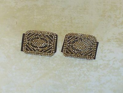 Fine Pair Of French Antique Cut Steel Shoe Buckles Marked M B France Circa 1880