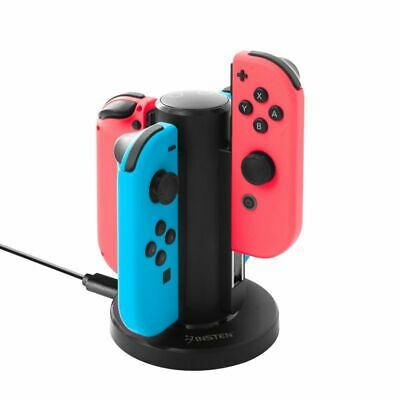 Joy-Con Charge Stand 4-Controllers Desktop Charging Dock for Nintendo Switch