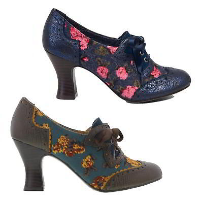 Ruby Shoo Daisy Womens Lace Court Shoes Blue Green Heels Size 4-8
