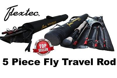 Flextec Oscar 5 Piece Travel Fly Fishing Rod with Case