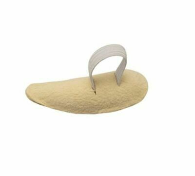 Crescent Shaped Chamois Leather Toe Props, Comfortable Elasticated Toe Loop