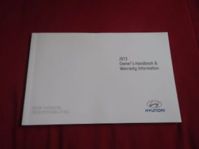 2013 Hyundai Elantra Accent Tiburon Sonata Warranty Information Owners  Manual