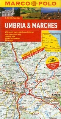 Umbria and the Marches Marco Polo Map (Marco Polo Maps) (Map), Ma. 9783829767705