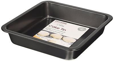 Everyday Baking 8-inch Non Stick Square Cake Tin, Black