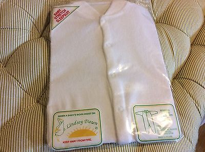 Vintage Lindsey Dawn 0-3 M Baby's Stretch Sleepsuit With Fitted Scratch Mittens