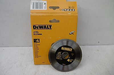 DEWALT DT3735 115MM X 22.2MM DIAMOND CUTTING DISC No4 TILES CERAMICS ETC