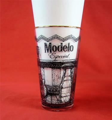 4 Modelo Especial 16 oz Mixing Glasses Bar Man Cave Wood Ink Metal Collaboration