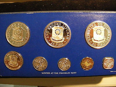 Philippines 1975 Proof Set - 8 Coin Set - Box & COA