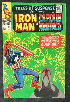 Tales of Suspense #82 (1966) Marvel Captain America & Iron Man VF to VF+ CA118