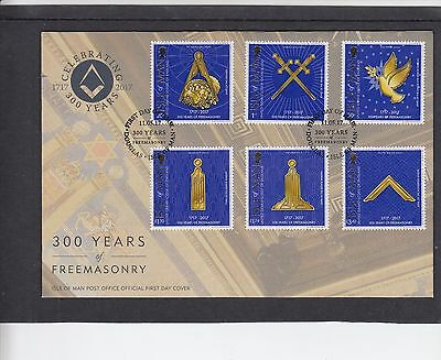 isle of Man 2017 Freemasonry 300 Years First Day Cover FDC Douglas special h/s