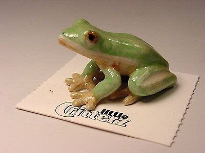"Little Critterz - LC316 ""Pond"" Green Tree Frog"