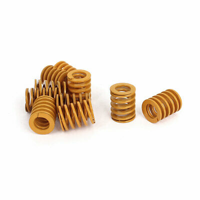 16mm OD 20mm Long Light Load Stamping Compression Mold Die Spring Yellow 10pcs