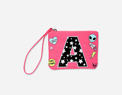 Justice Girl's Space Alien Initial Wristlet NWT