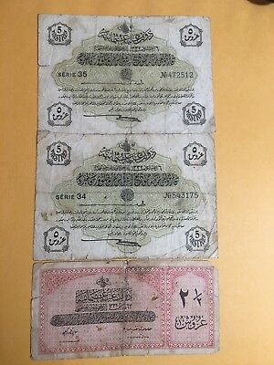 OTTOMAN/TURKEY (2) 5 kurush and 2 1/2 lira 1916