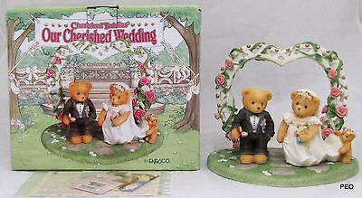 "Cherished Teddies ""Our Cherished Wedding"" Set Cake Topper Figurine 1998 510254"