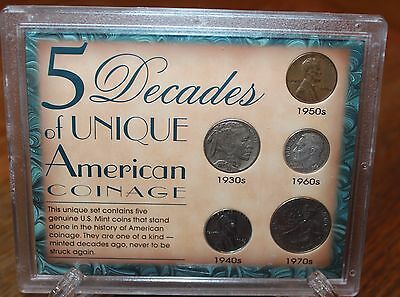 5 Decades of Unique American Coinage Sealed Case